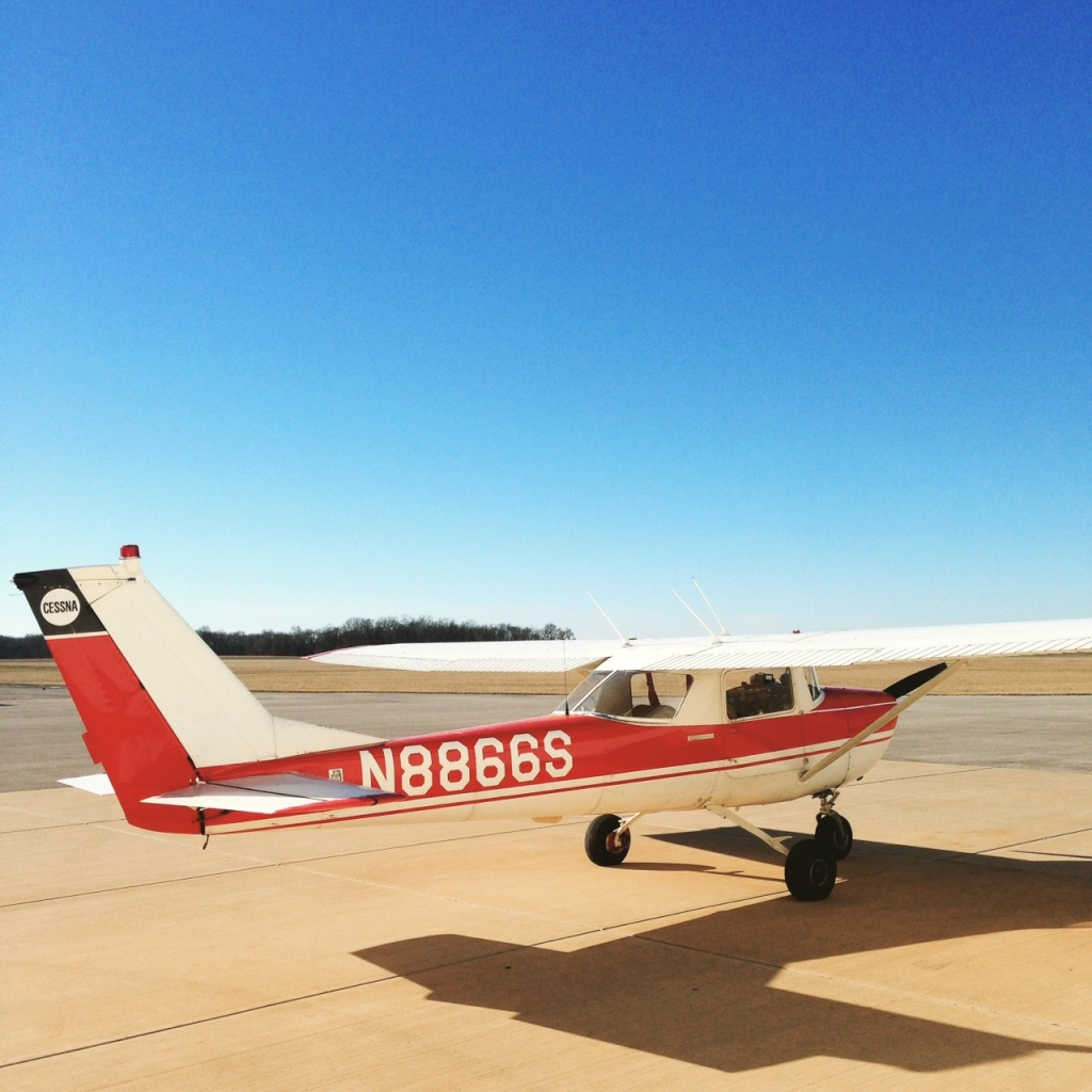 Post flight, N8866S sits on the tarmac at Greenville Airport. (Photo by Scott Allen)